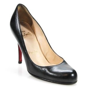 Christian Louboutin Black Leather Pumps - Sz 34.5